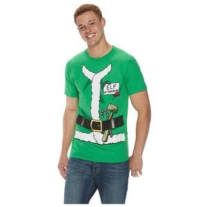 NEW Mens Size Small Elf in Training Christmas tee